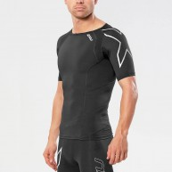 2XU Men's Compression Short Sleeve Top Black/Silver