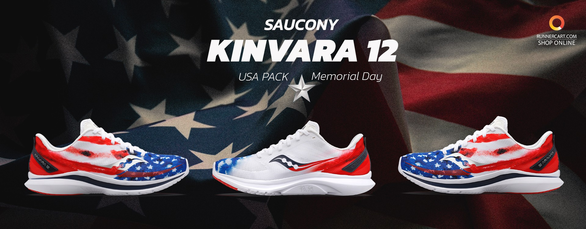"""Saucony Kinvara 12 - USA Pack Limited Edition """"Memorial Day"""""""